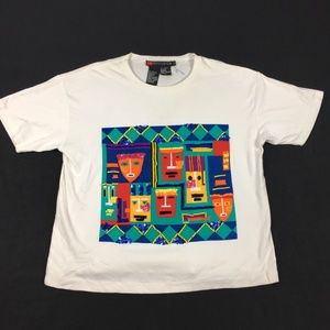 Vintage 90s IB Diffusion Color Block Wearable Art